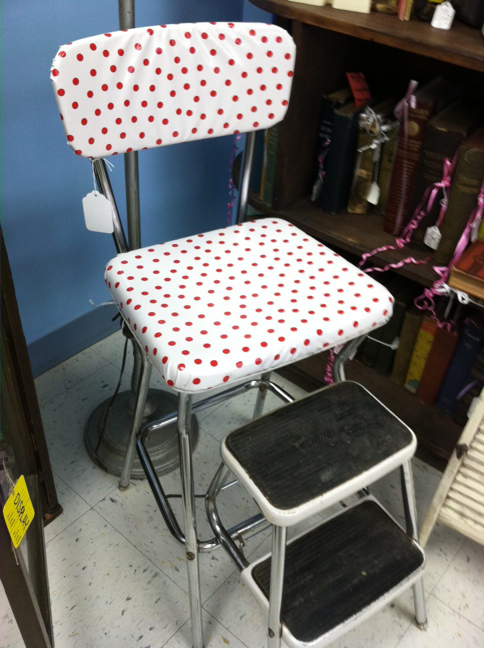 New Item White With Red Polka Dot Cosco Step Stool